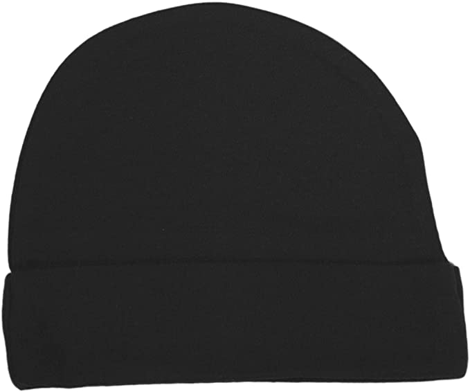 Amazon.com  Baby Milano Black Baby Beanie Hat  Infant And Toddler ... ea9b6e13617