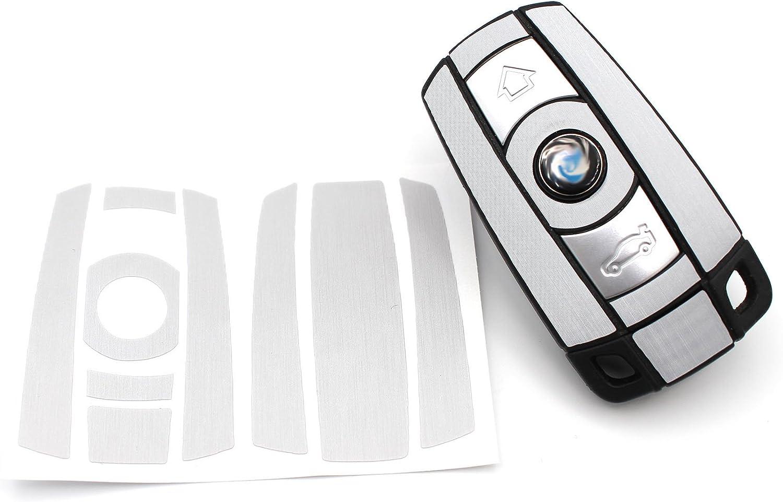 Finest Folia Schlüssel Folie K141 Für 3 Tasten Auto Schlüssel Nur Keyless Go Folien Cover Alu Schliff Auto