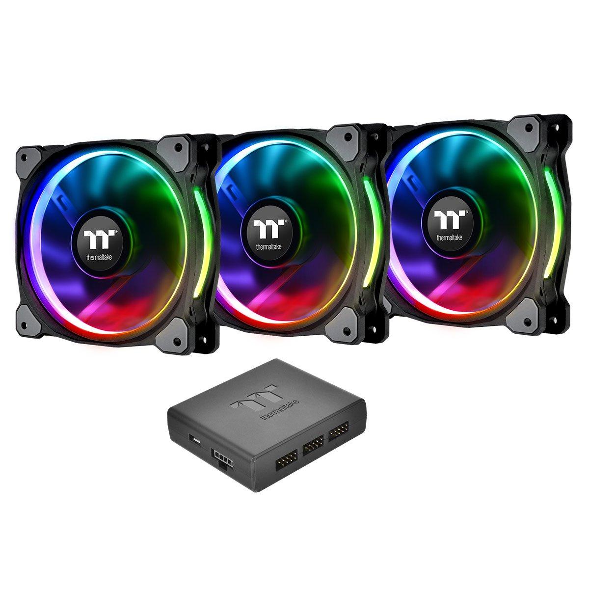 Thermaltake Riing PlusCooling Fan - Case - 3 x 120 mm - 3 - 1500 rpm - 3 x 48.3 CFM