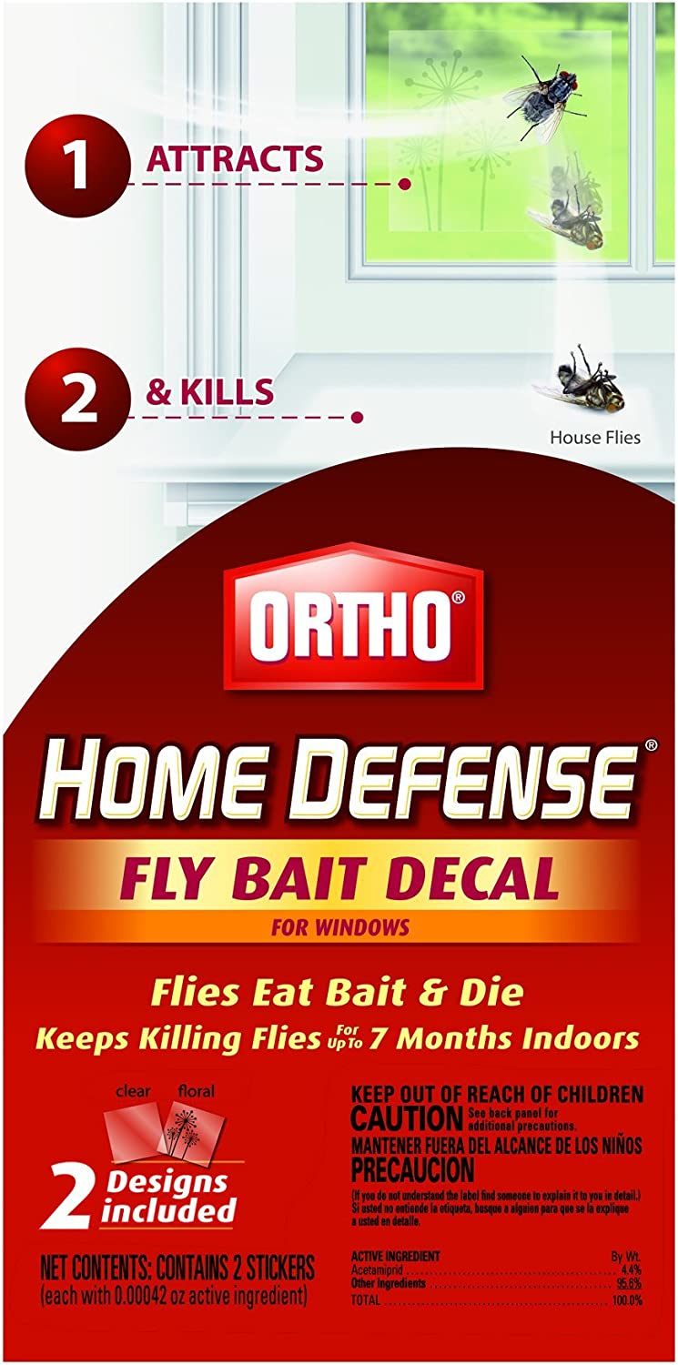 Ortho Home Defense Window Decal Fly Killer Bait (2 Pack) (Case of 18)