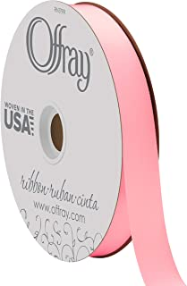 "product image for Berwick Offray 7/8"" Wide Double Face Satin Ribbon, Pink, 100 Yards"