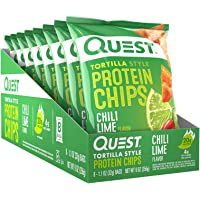 Quest Tortilla Chili Lime Chips, 32 grams (Pack of 8)