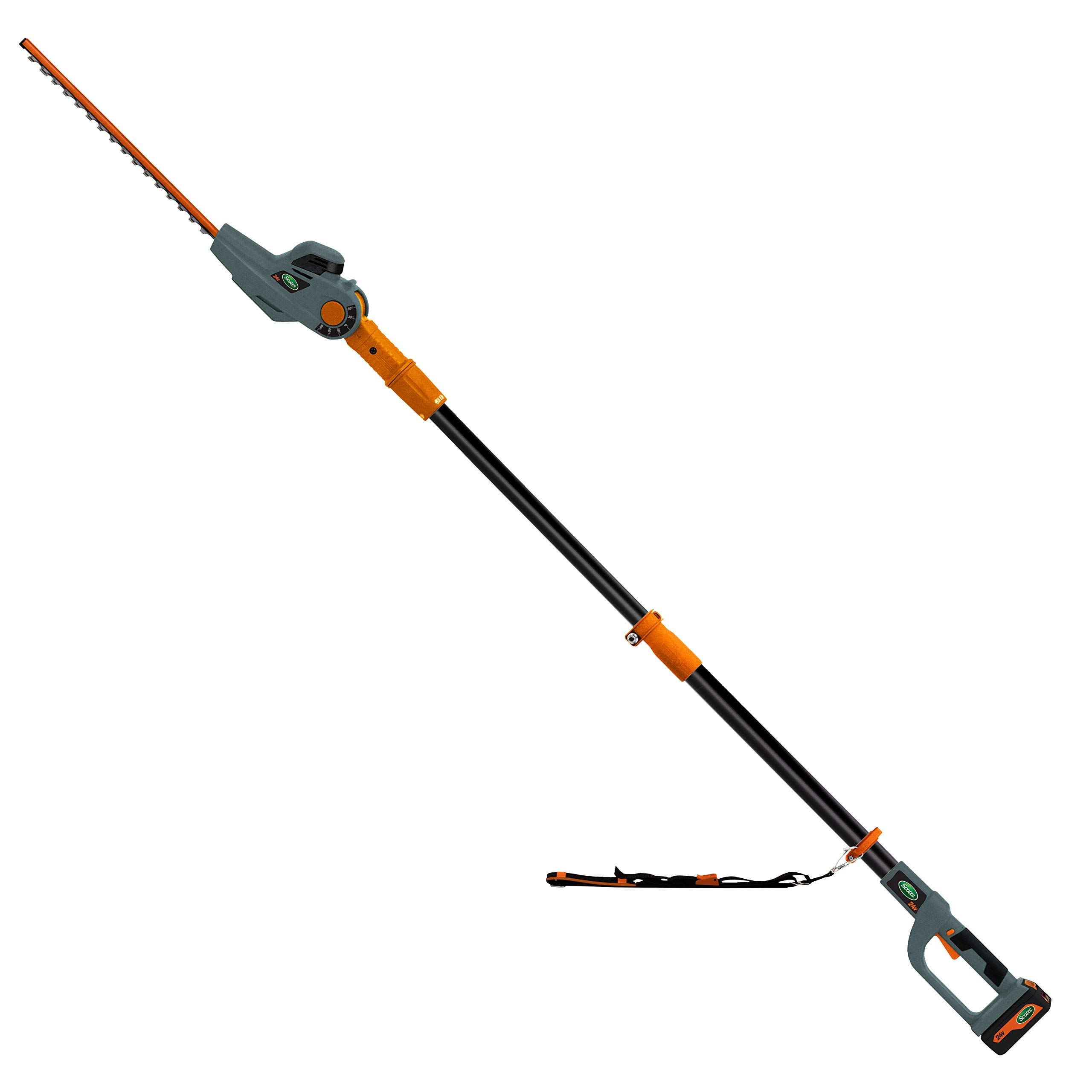 Scotts Outdoor Power Tools LPHT11724S 24-Volt 17-Inch Cordless Pole Hedge Trimmer, 2.5AH Battery and Fast Charger Included by Scotts Outdoor Power Tools