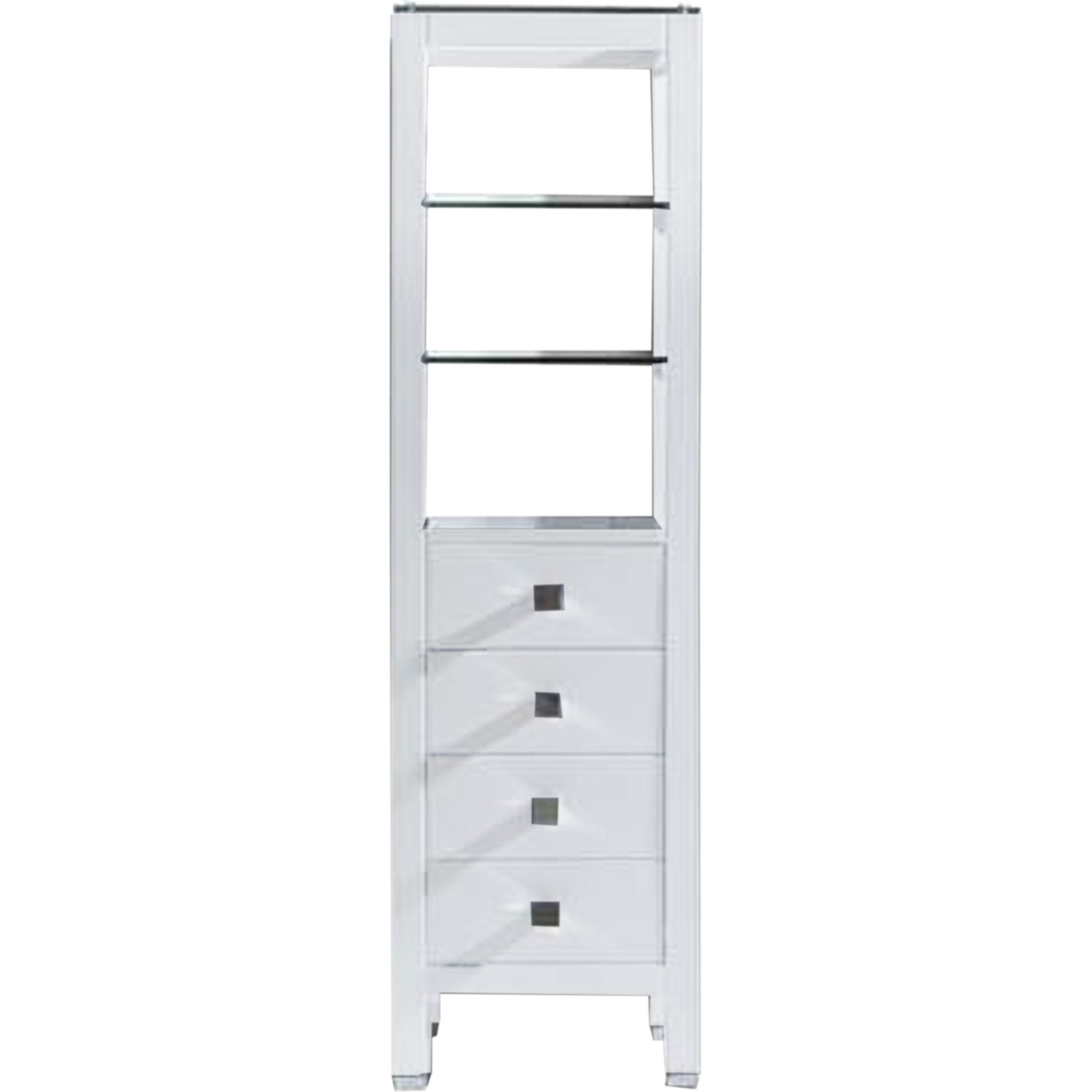 Virtu USA MDC-489-WH Cailey 16'' Linen Cabinet, White