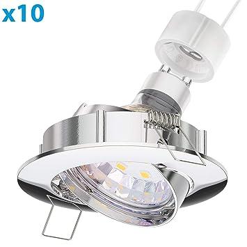 LED Decken-Einbaustrahler CIRC chrom matt schwenkbar GU10 4,5W 340lm weiß