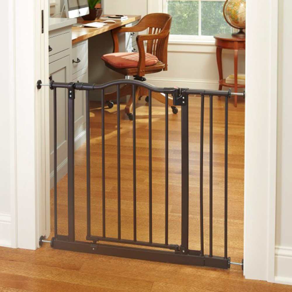 North States Pet MyPet Windsor Arch Gate fits openings 28.25'' – 38.25'' wide and is 28.5'' high