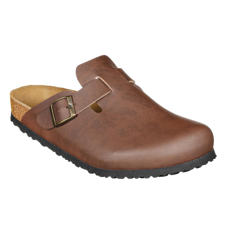 JOE N JOYCE Slippers Clogs Shoes Leatherette Narrow - Mens and Womens Brown 42 EU