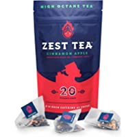 Zest Tea Energy Hot Tea, High Caffeine Blend Natural & Healthy Coffee Substitute, Perfect for Keto, 20 Servings (150mg…