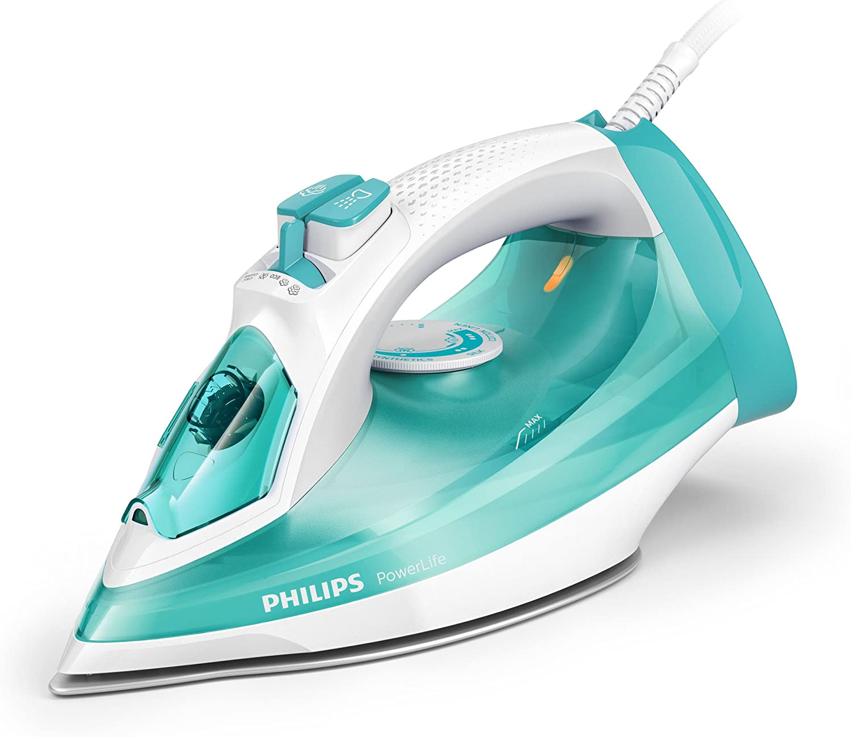 Philips Vapor GC2992/70 PowerLife-Plancha (Suela de SteamGlide, 150, Verde, Blanco, 40 g/min, 0,32 L, 312 mm), 2300 W, 0.32 litros