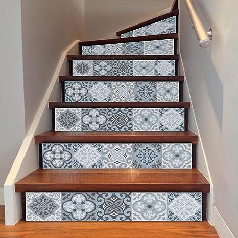Marche d\'escalier Retro Motifs Porcelaine Auto-adhésif Sticker ...