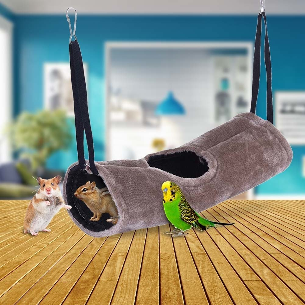 Brushed Hammock Warm Tunnel Cotton House Pet Parrots Birds Hamster Make Your Pets Feel Comfortable And Safe With The Soft Texture.