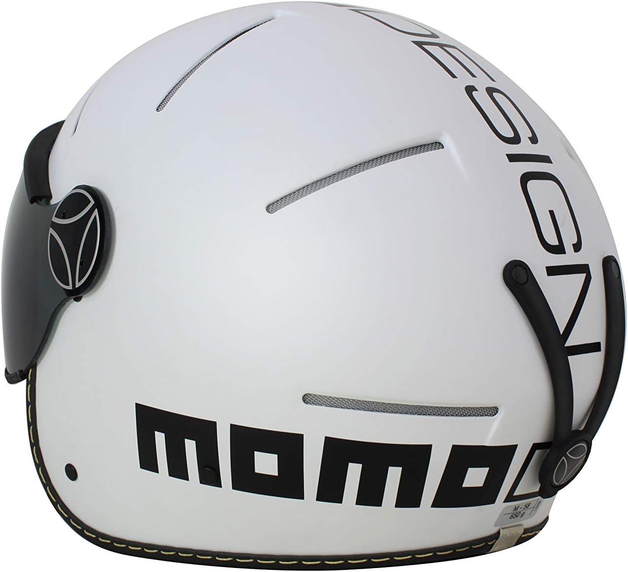 M Casco Sci Unisex 58 cm MOMO Design Venom18 Bianco Opaco Adulto