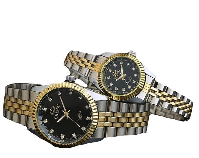 Caliente venta relojes orfebre pareja relojes cuarzo relojes impermeable coreano reloj de pulsera: Amazon.es: Relojes