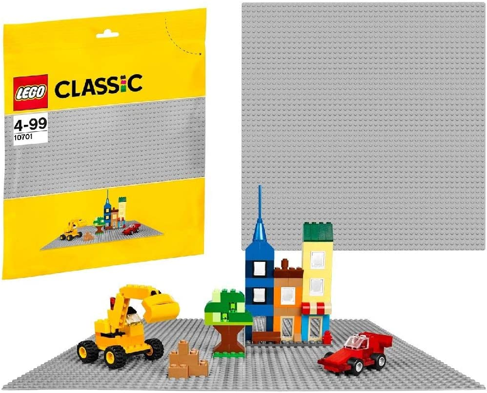 (European Version) LEGO Classic Base Extra Large Building Plate 15 x 15 Inch Platform, Gray | 10701