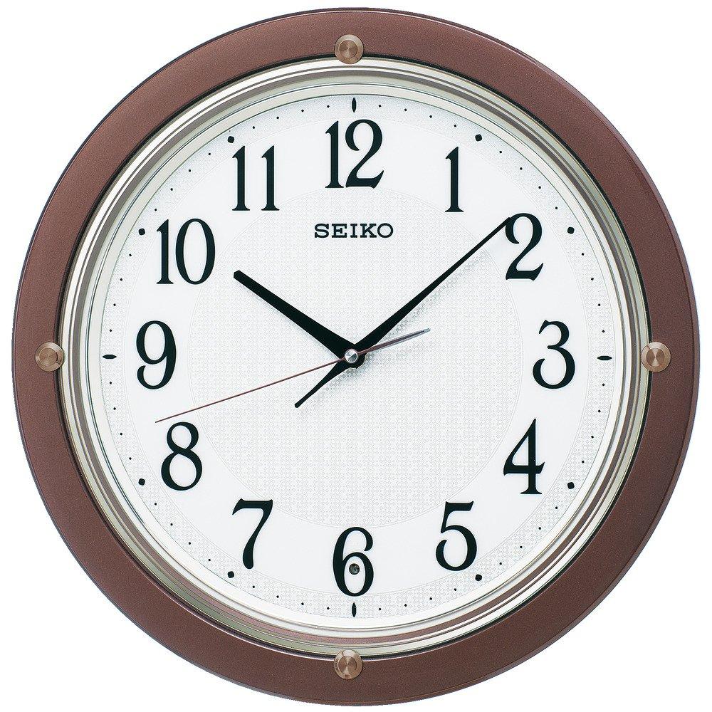 セイコー クロック 掛け時計 電波 アナログ 茶 メタリック KX217B SEIKO B01K1QQLDW 茶 茶
