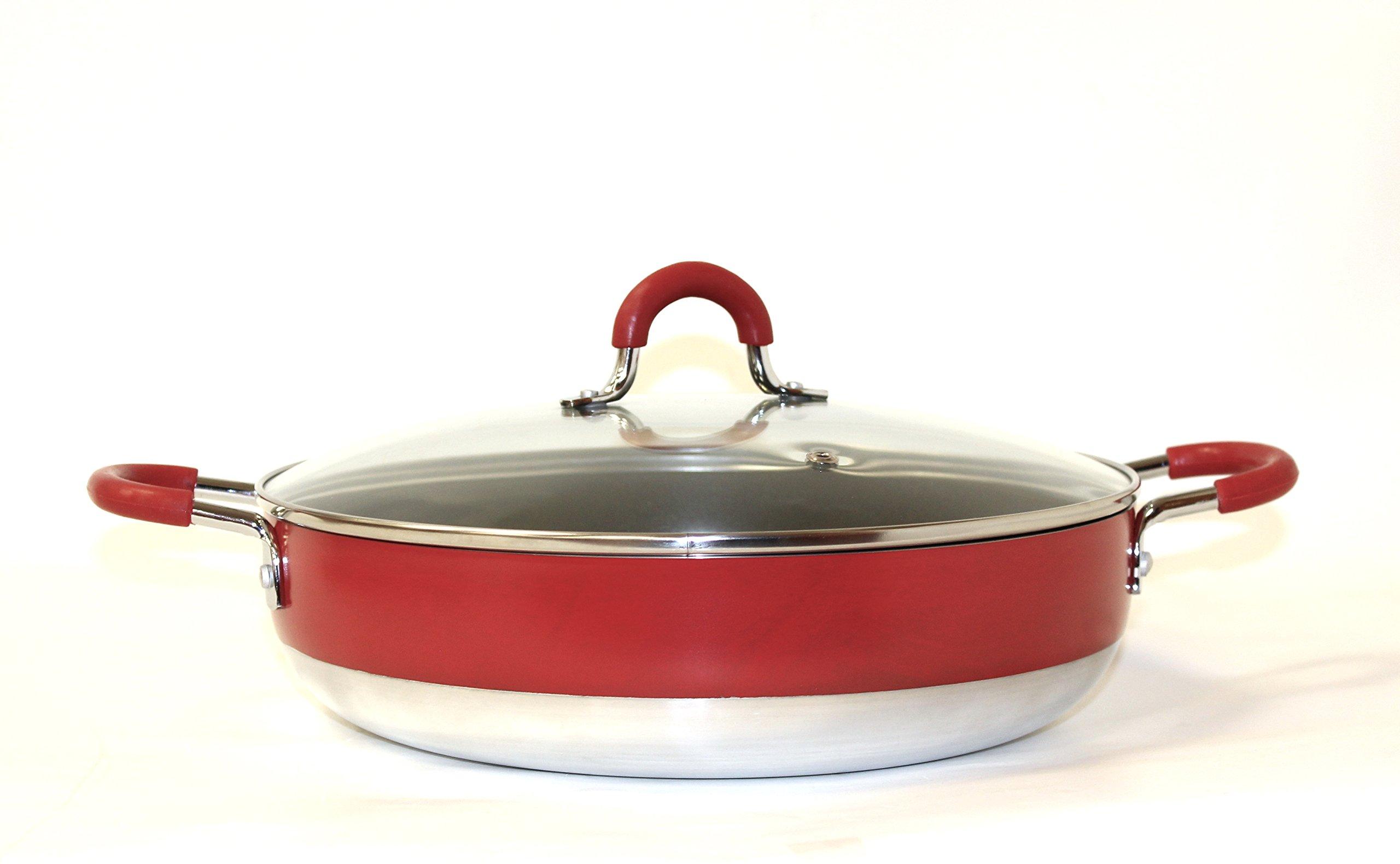 Callaway Cacerola Baja con Tapa de 28 cm, Rojo product image