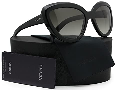 3aa67f9a7e3bc Prada SPR08R Ornate Sunglasses Shiny Black w Grey Gradient (1AB-0A7) PR  08RS 1AB0A7 57mm Authentic  Amazon.co.uk  Clothing