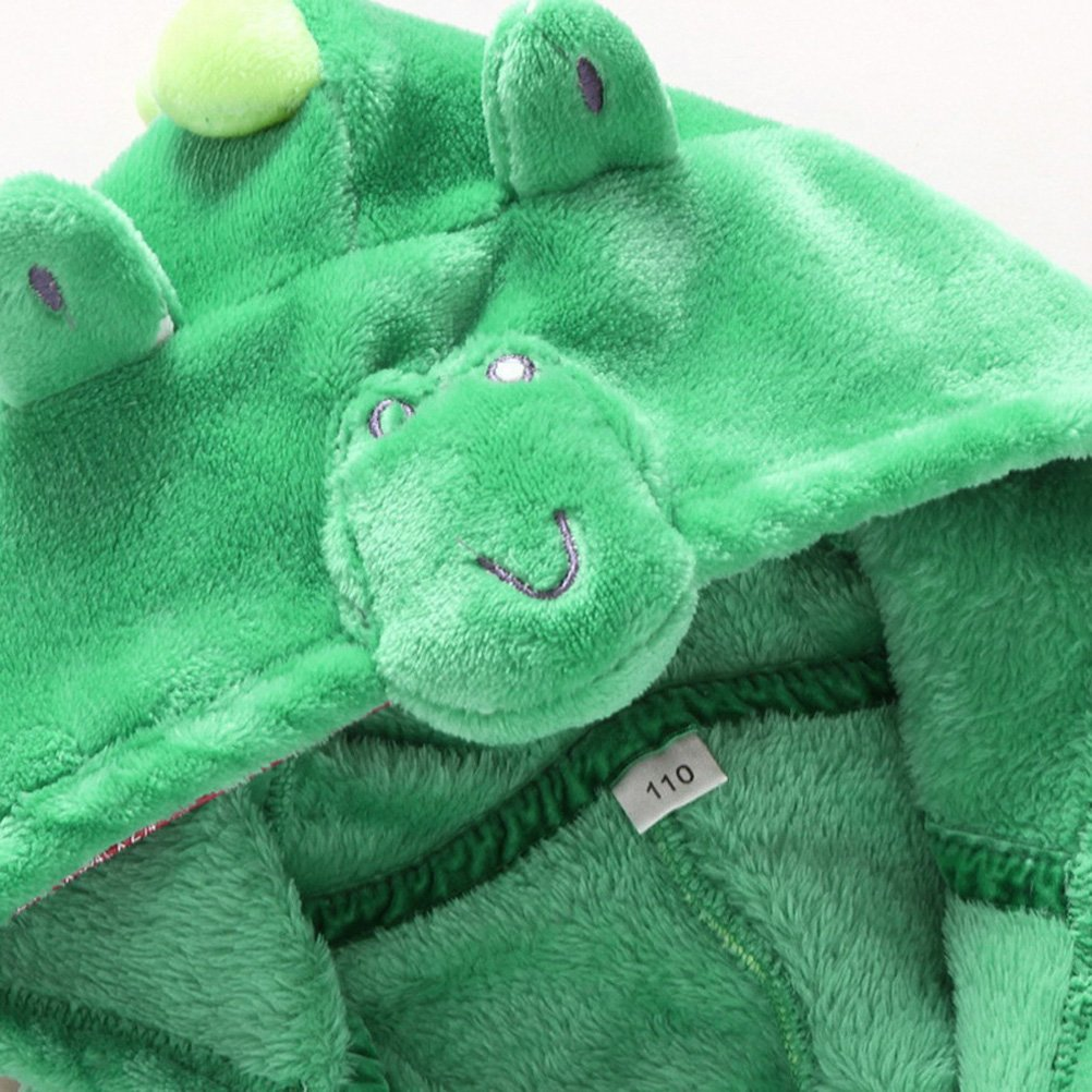 Kids Little Boys Girls Coral Fleece Bathrobe Unisex Kids Robe Pajamas Sleepwear FBA