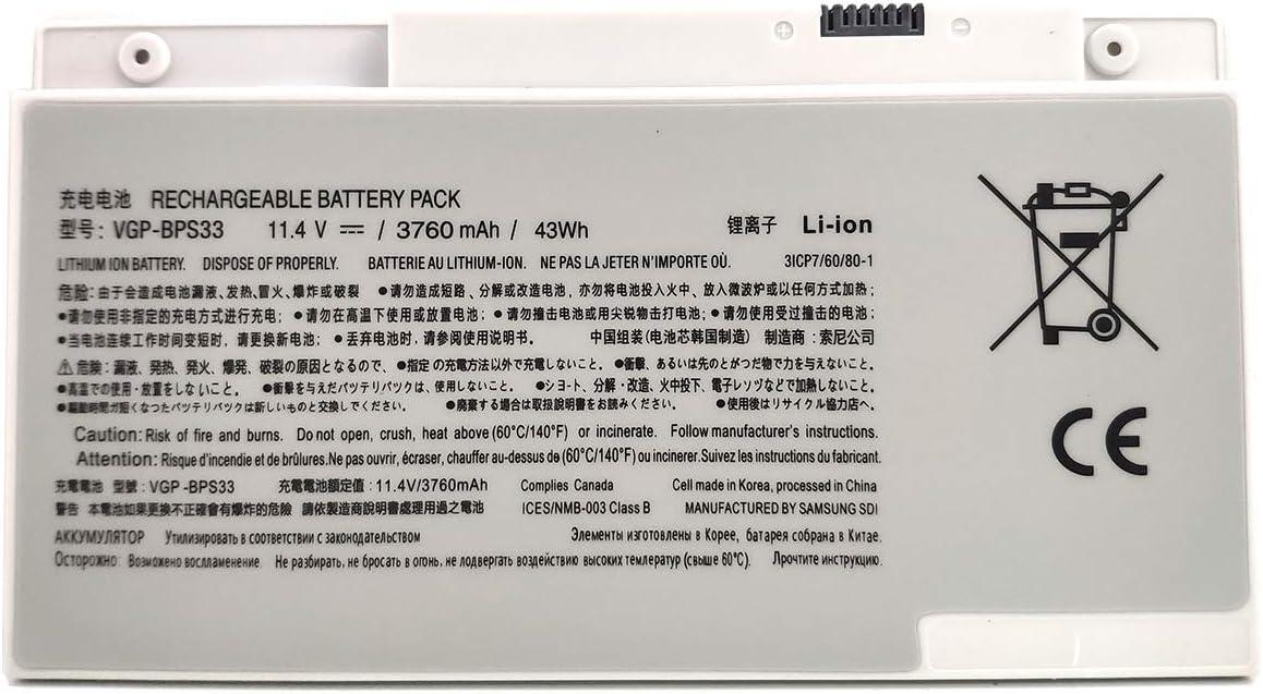 EndlessBattery VGP-BPS33 Replacement Laptop Battery Compatible with Sony Vaio Svt-14 Svt-15 T14 T15 Touchscreen Ultrabooks VAIO SVT14126CXS SVT14128CC SVT14127CG SVT14127CH SVT141A11L T440P