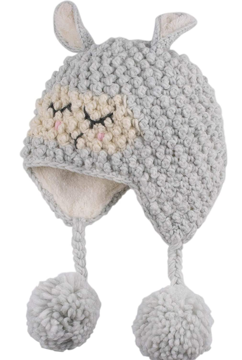 Amazon.com: ERISO Toddler Baby Girls Winter Hat Fleece Lined Knit ...