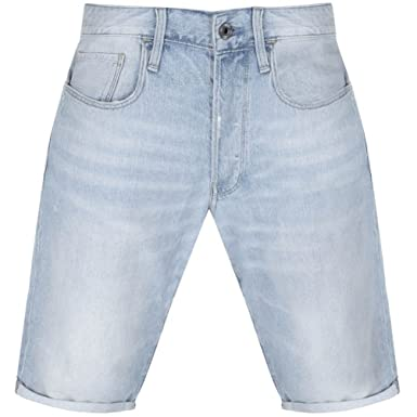 60163ee773 Mens G Star Raw 3301 Denim Shorts Blue - 38