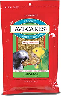 product image for LAFEBER'S Classic Avi-Cakes Pet Bird Food, Made with Non-GMO and Human-Grade Ingredients, for Parrots