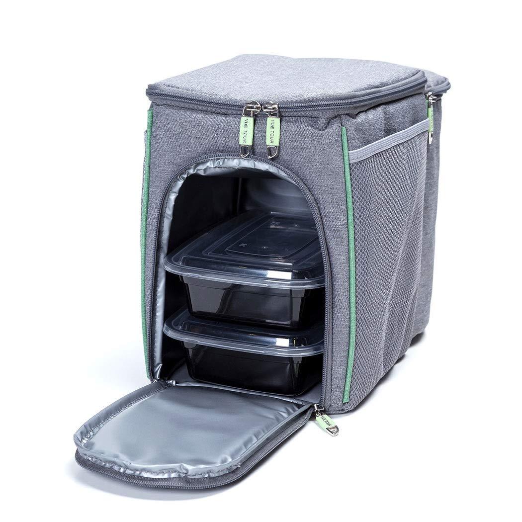 HUIFANG Kationische Materialien Lunchbox Isolierung Frische Picknick Lunchbox Eisbeutel Doppel Picknick Isolationsbeutel Grau 35l A (Farbe   grau, größe   35l)