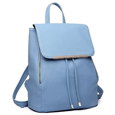 Miss Lulu Ladies Fashion Faux Leather Backpack Rucksack Shoulder Bag ... 646218b916