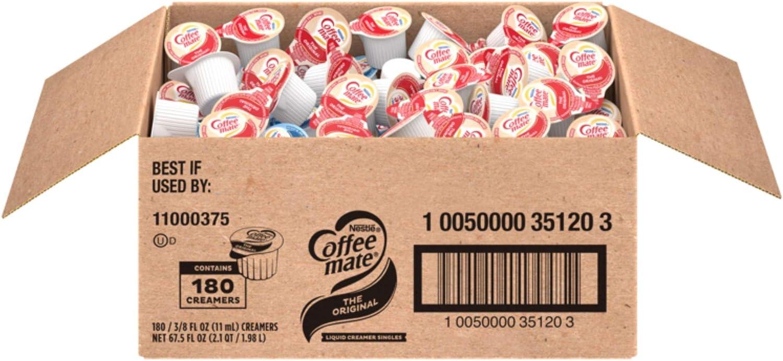 Amazon Com Nestle Coffee Mate Coffee Creamer Original Liquid Creamer Singles Non Dairy No Refrigeration Box Of 180 Nondairy Coffee Creamers Grocery Gourmet Food