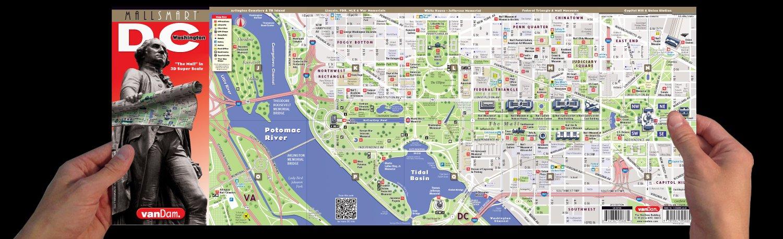 Streetsmart Washington Dc Map By Vandam Laminated Pocket City
