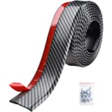 Yescom 2.5m/250cm Universal Carbon Fibre Front Bumper Lip Strip Splitter Spoiler Side Skirt for Car Truck