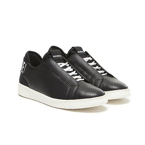 Bikkembergs - Zapatillas de Piel para hombre negro negro negro Size: 41: Amazon.es: Zapatos y complementos