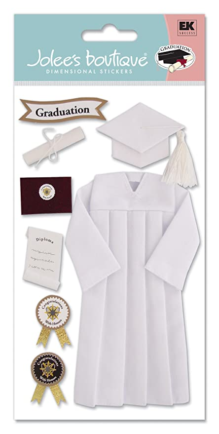 School Graduation Cap /& Gown Diploma 3D Stickers Jolee/'s Boutique EK Success New