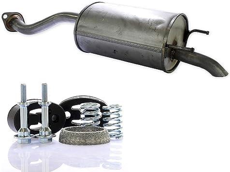 Auspuff Endschalldämpfer Endtopf Montagesatz Set Auto