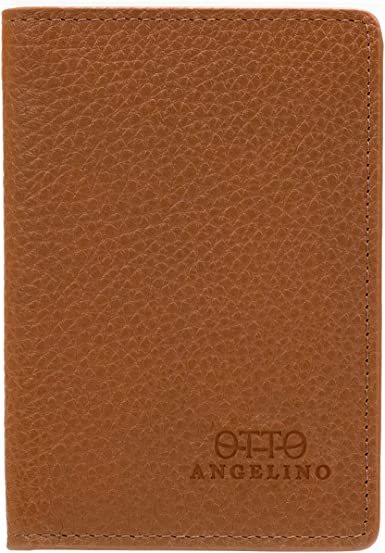 Otto Bifold Leather Wallet Dark RFID Passport Style ID Bank Cards and Cash