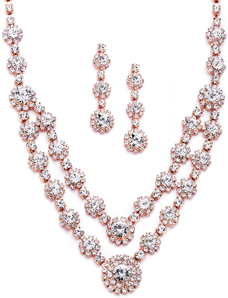 Bridal Wedding Labradorite Rose Gold Plated Earring Silver 925 Pink Crystal Grey Pink Long Multi Gemstone Dangle Rose Quartz Bridesmaid