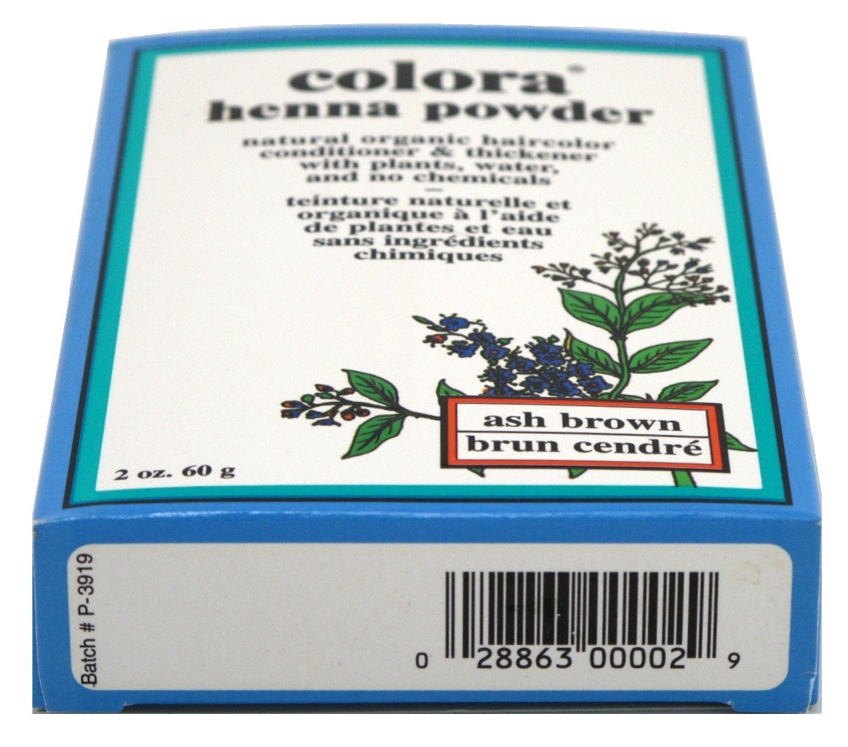 Colora Henna Powder Hair Color Ash Brown 2oz (3 Pack) by Colora Henna (Image #1)