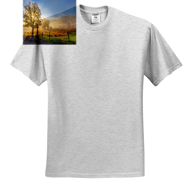 T-Shirts Landscapes Sun Shining Through Backlit Tree 3dRose Mike Swindle Photography