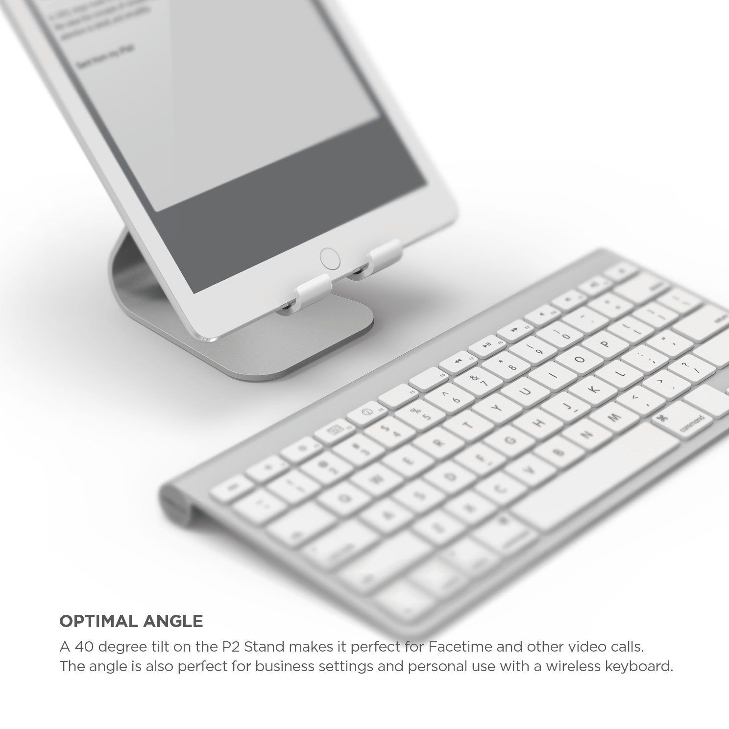Elago P2 Stand for iPad and Tablet PC - Silver by elago (Image #5)
