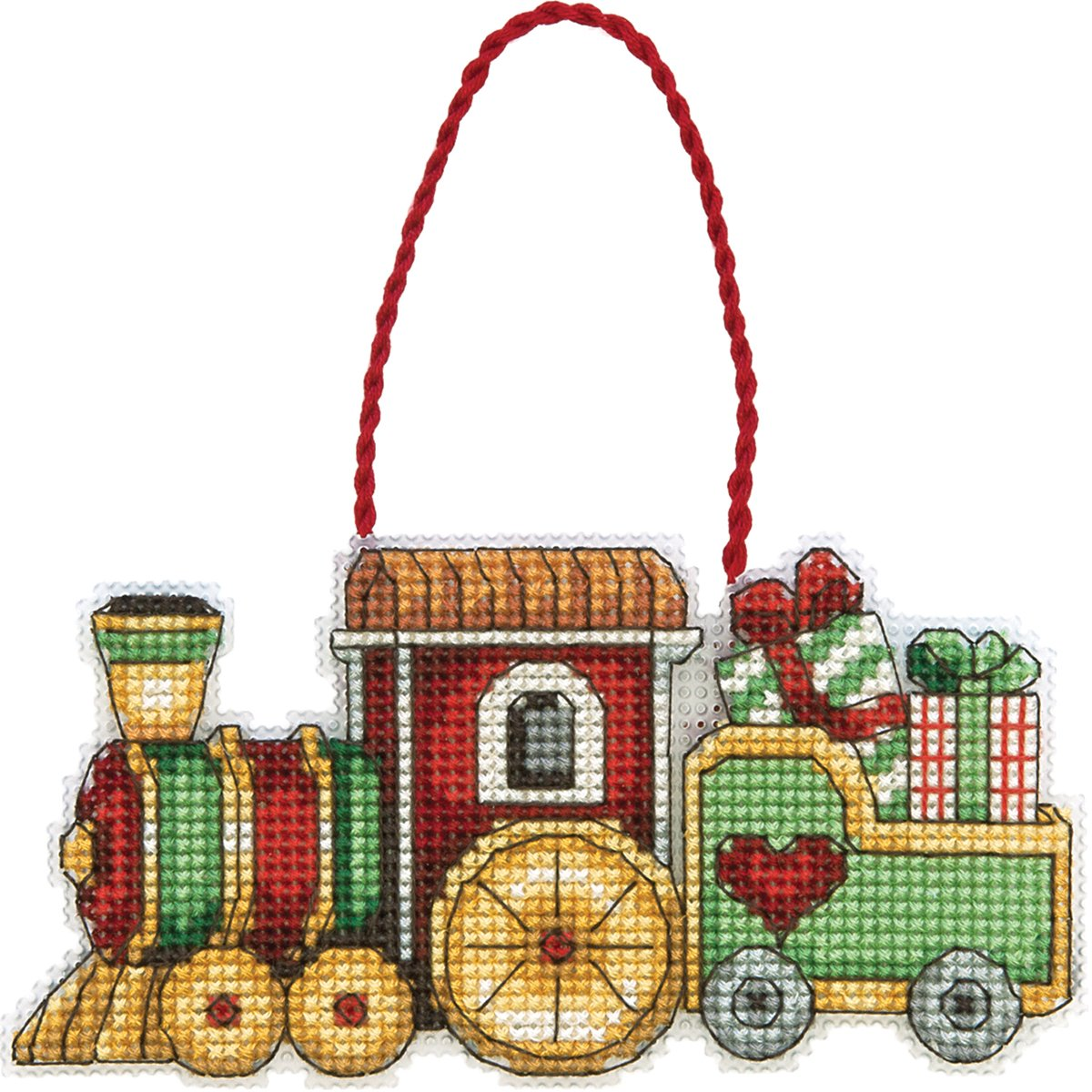 Dimensions Counted Cross Stitch, Train Ornament 70-08897