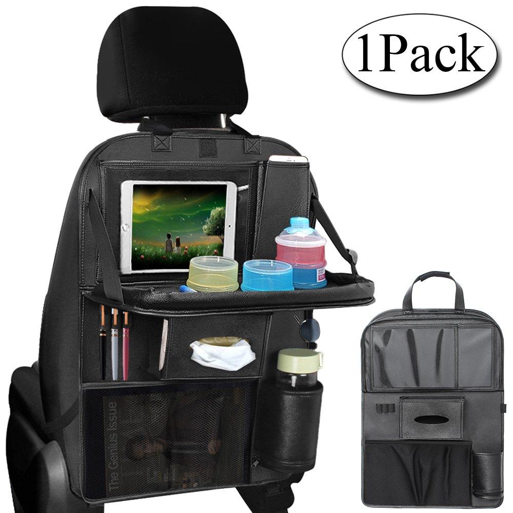 AresKo Organisateur Siè ge de Voiture, Car Back Seat Organizer Protecteur de siè ge arriè re Car Tidy avec Plateau Pliable et é cran Tactile iPad, 1PC