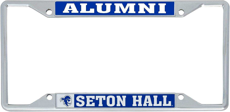 Desert Cactus Seton Hall University SHU Pirates NCAA Metal License Plate Frame for Front Back of Car Officially Licensed Alumni