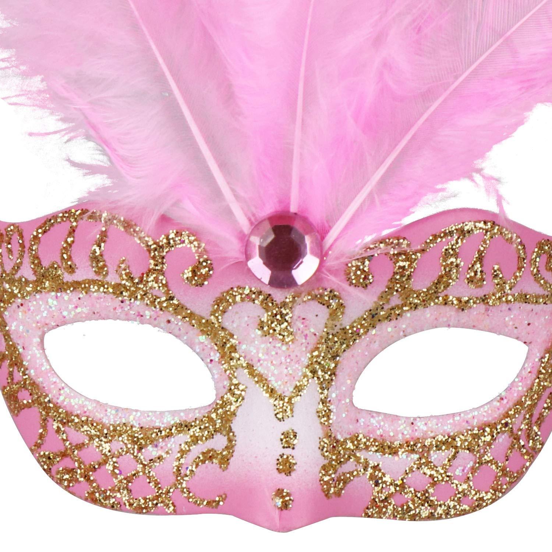 12pcs Mardi Gras M/áscara peque/ña Chica Favorece Halloween Navidad Regalos de la Novedad Coddsmz M/áscara de la Mascarada Decoraci/ón del Partido M/áscara