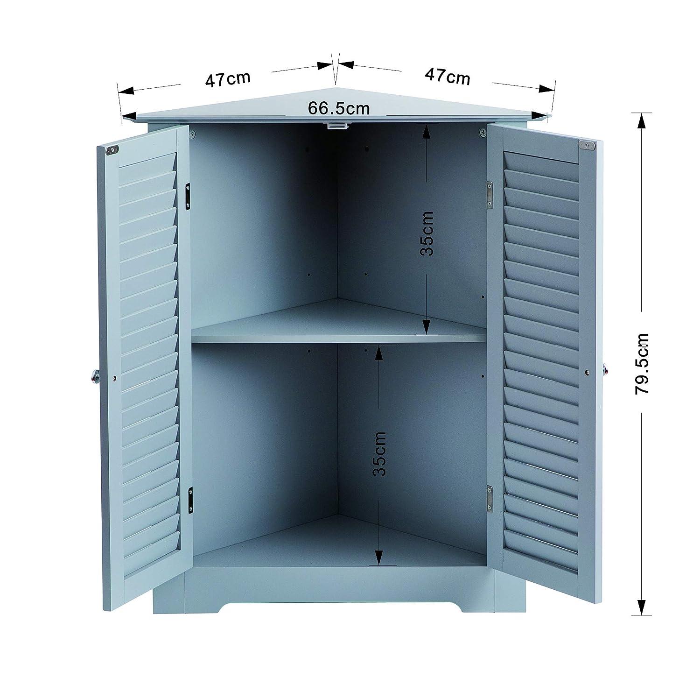 Aspect Odense Bathroom Corner Storage Cabinet 66 5x47x79 5cm White