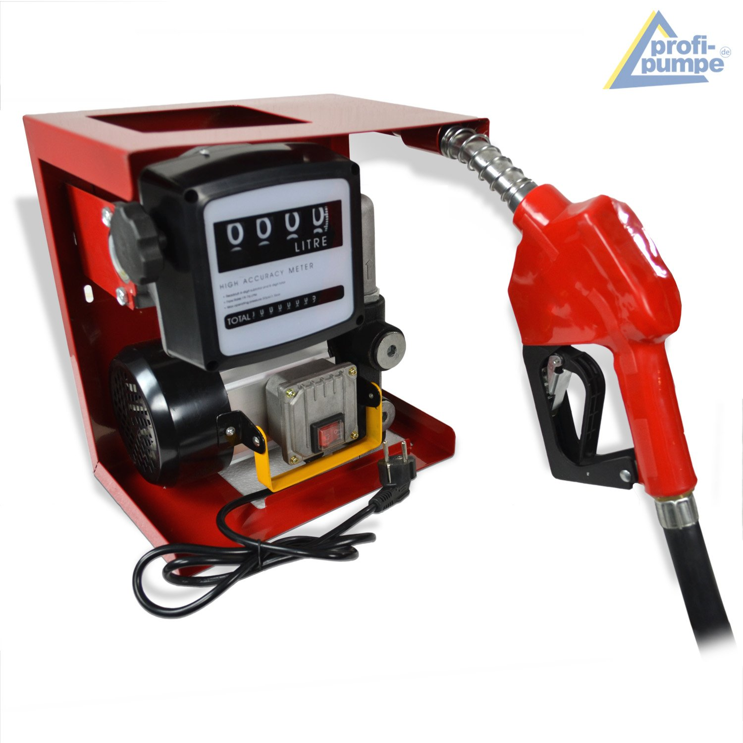 good EXTR 2pcs Brass fittings and BRASS CHECK-VALVE 2pcs connectors counter DIESEL TRANSFER PUMP EXCELLENCE-2 DIESEL PUMP for Diesel // Biodiesel // fuel // oil 220V 230V 240V electrical barrel pump Kit with high quality automatic nozzle flexible hose