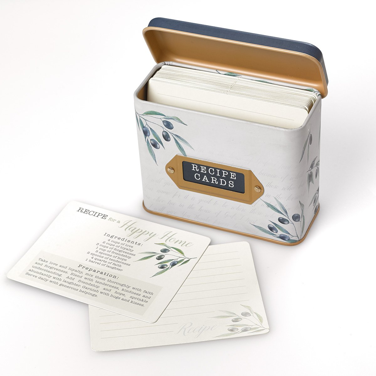 Recipe Box with Cards Taste and See That the Lord is Good Psalm 34:8
