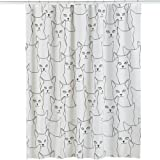 Glow In The Dark Cats Shower Curtain, White