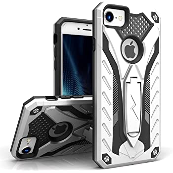 Zizo Static Series Compatible with iPhone 8 Case Military Grade Drop Tested  with Built in Kickstand 5cb10b947b