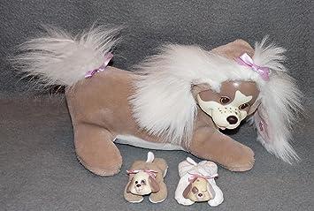 kuscheltier mit babys im bauch