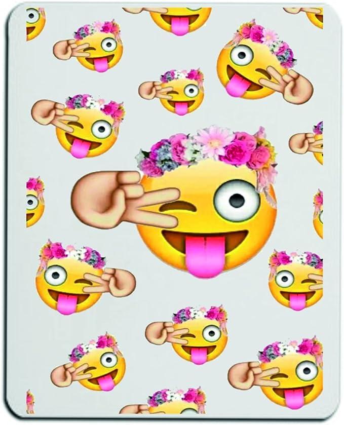 Druckerlebnis24 Alfombrilla de ratón Feliz Emoji-Kissen-1 con ...